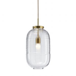 Lantern Pendant clear-polished brass BOMMA