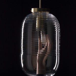 Lantern pendant detail light patina brass Bomma