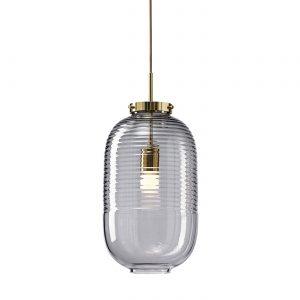 Lantern pendant smoke-polished brass BOMMA