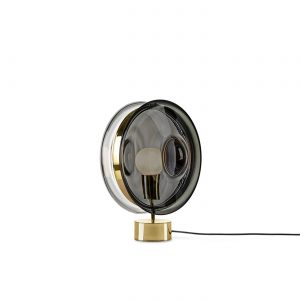 Orbital Table Lamp mercury black-polished brass BOMMA