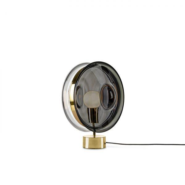 Orbital Table Lamp mercury black-polished brass BOMMA