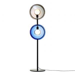 Orbital floor lamp neptune blue-mercury black-black fitting BOMMA 1