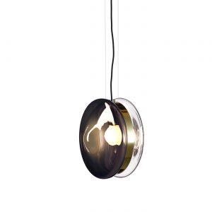 Orbital pendant mercury black-polished brass BOMMA