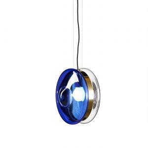 Orbital pendant neptune blue-polished brass BOMMA