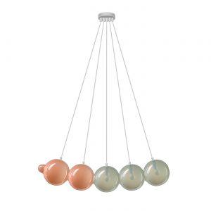 Pendulum 5 position Pink & Light grey BOMMA