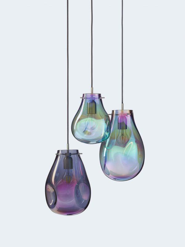 SOAP chandelier 3 purple green off BOMMA
