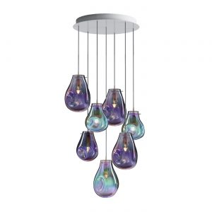 Soap Chandelier 7pcs purple-green BOMMA