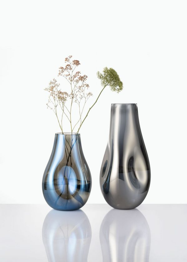 Soap Vases BOMMA small large blue silver