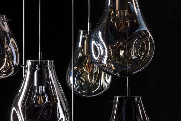 soap pendants BOMMA chandelier detail
