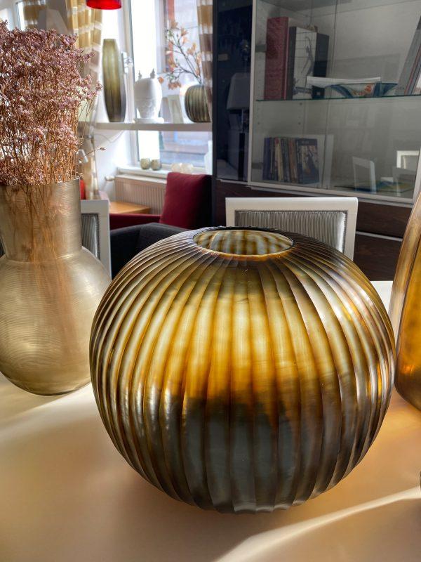 GOBI ROUND Indigo Brown GUAXS vase (1)