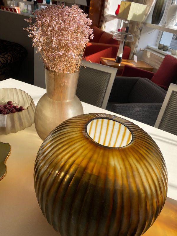 GOBI ROUND Indigo Brown GUAXS vase (3)