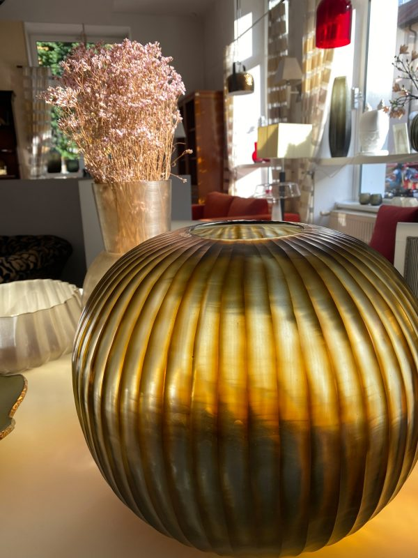 GOBI ROUND Indigo Brown GUAXS vase (4)